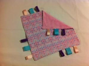 pink flower front folded